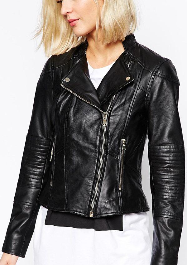 418926a6e58a9 Mia Biker Motorcycle Black Women Leather Jacket - Zakiz London