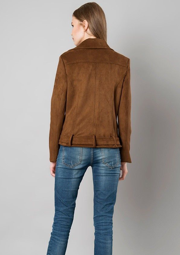 bfdb8509933bb Penelope Women Brown Suede Leather Jacket - Zakiz London